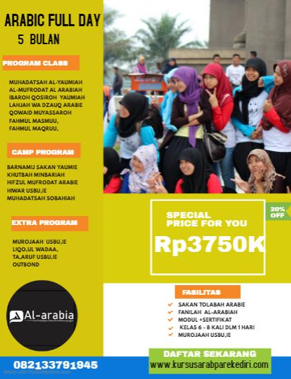 Kursus Bahasa arab 5 bulan
